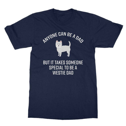 Image of Special Westie Dad Softstyle T-shirt Apparel kite.ly S Navy