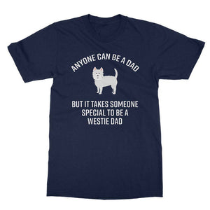 Special Westie Dad Softstyle T-shirt Apparel kite.ly S Navy