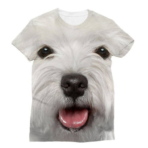 Westie Face Tee UK Manufacturer - Full Front Print Sublimation Tee Apparel kite.ly S