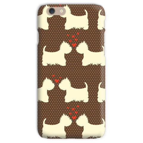 Image of Westies in Love Brown Phone Case Phone & Tablet Cases kite.ly iPhone 6s Snap Gloss