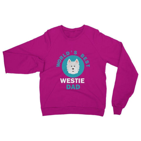 Image of World's Best Westie Dad Heavy Blend Crew Neck Sweatshirt Apparel kite.ly S Heliconia