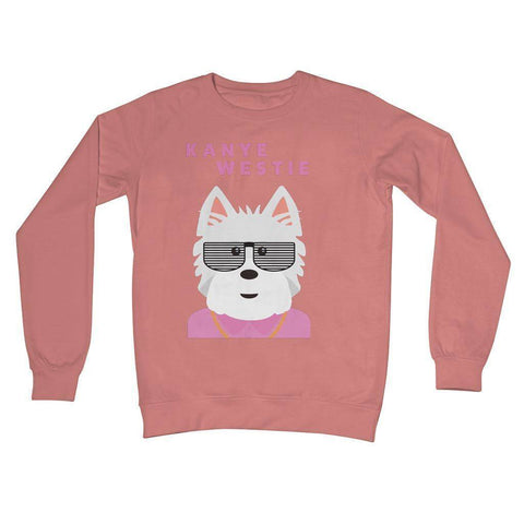 Image of Kanye Westie Crew Neck Sweatshirt Apparel kite.ly S Dusty Pink