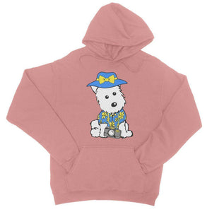 Summer Holiday Westie College Hoodie Apparel kite.ly S Dusty Pink