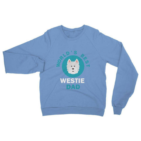Image of World's Best Westie Dad Heavy Blend Crew Neck Sweatshirt Apparel kite.ly S Carolina Blue