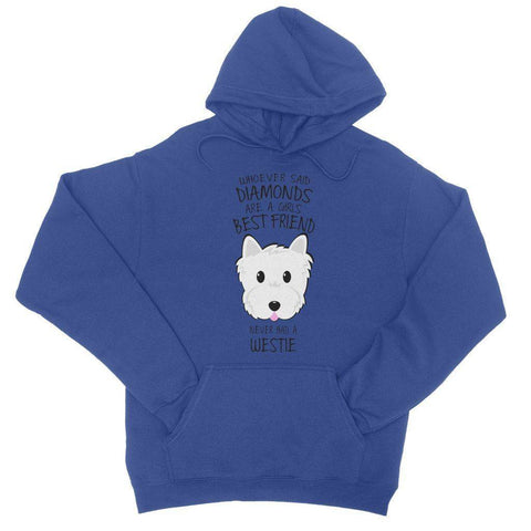 Whoever Said Diamonds College Hoodie Apparel kite.ly S Royal Blue