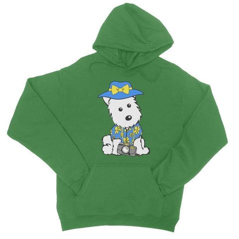 Image of Summer Holiday Westie College Hoodie Apparel kite.ly S Kelly Green