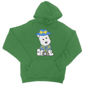 Summer Holiday Westie College Hoodie Apparel kite.ly S Kelly Green