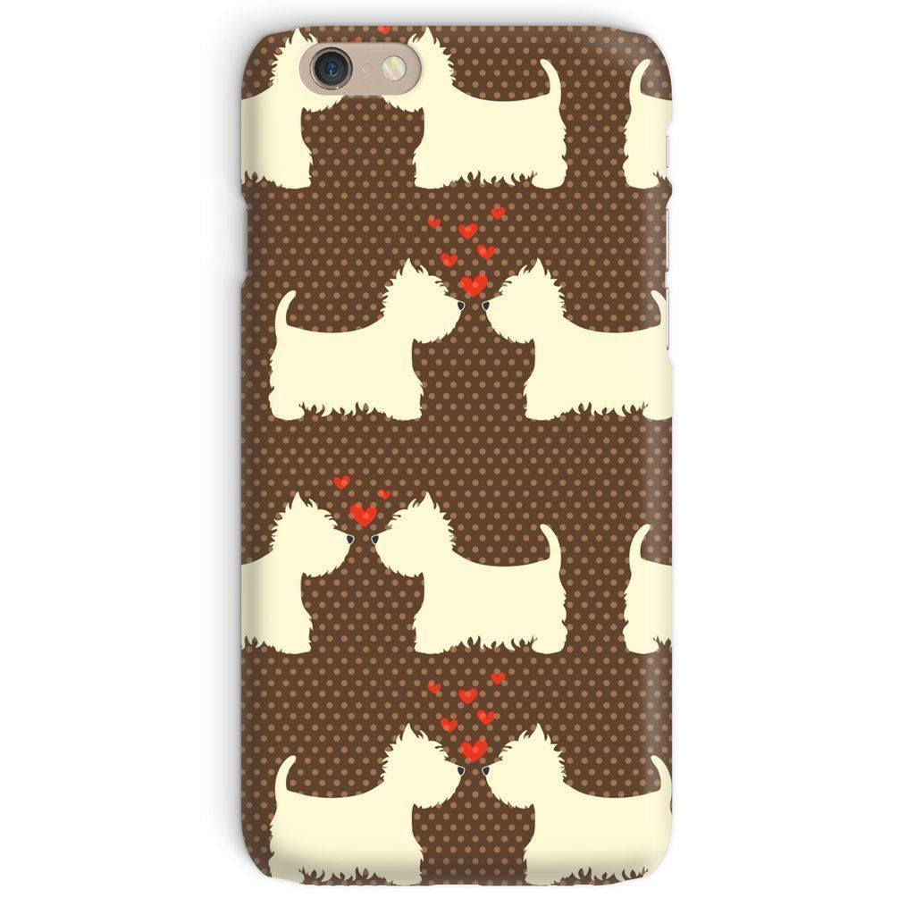 Westies in Love Brown Phone Case Phone & Tablet Cases kite.ly iPhone 6 Snap Gloss