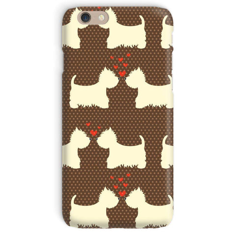 Image of Westies in Love Brown Phone Case Phone & Tablet Cases kite.ly iPhone 6 Snap Gloss