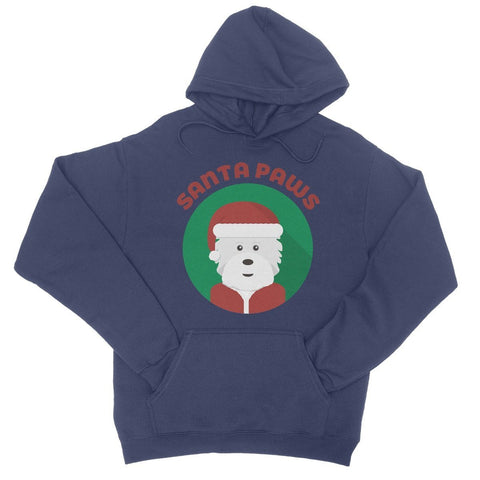 Image of Santa Paws College Hoodie Apparel kite.ly S New French Navy