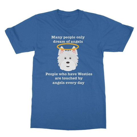 Westie Angel Softstyle T-shirt Apparel kite.ly S Royal Blue