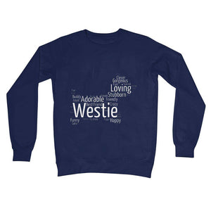 Westie Word Cloud Crew Neck Sweatshirt Apparel kite.ly S New French Navy