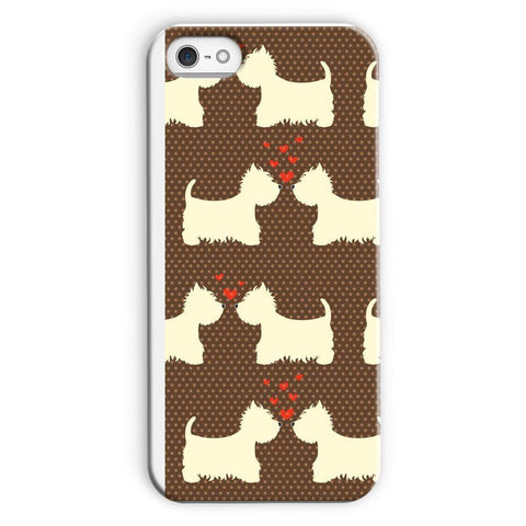 Image of Westies in Love Brown Phone Case Phone & Tablet Cases kite.ly iPhone 5c Snap Gloss