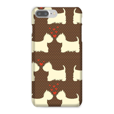 Image of Westies in Love Brown Phone Case Phone & Tablet Cases kite.ly iPhone 7 Plus Snap Gloss