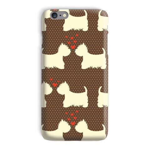 Image of Westies in Love Brown Phone Case Phone & Tablet Cases kite.ly iPhone 6s Plus Snap Gloss