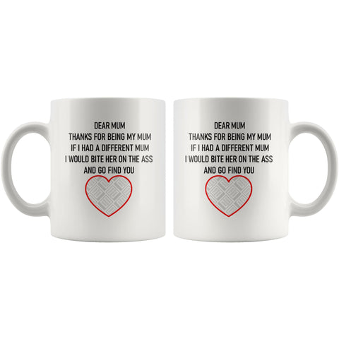 Dear Mum/Mom Personalised Funny Mug For Dog Mothers Personalized Drinkware teelaunch
