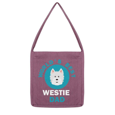 World's Best Westie Dad Tote Bag Accessories kite.ly Melange Plum
