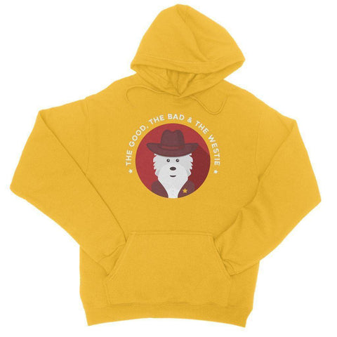 Image of The Good, The Bad and The Westie Hoodie Apparel kite.ly S Gold