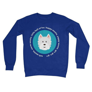 Happy Westie - Big Bang Theory Crew Neck Sweatshirt Apparel kite.ly S Royal Blue