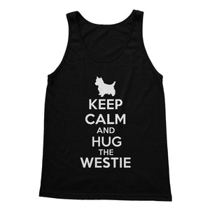 Keep Calm and Hug The Westie Softstyle Tank Top Apparel kite.ly S Black