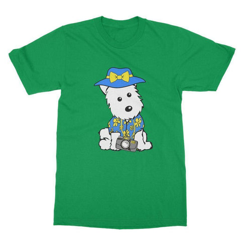 Image of Summer Holiday Westie Softstyle T-shirt Apparel kite.ly S Irish Green