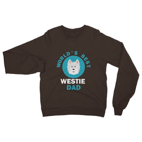 Image of World's Best Westie Dad Heavy Blend Crew Neck Sweatshirt Apparel kite.ly S Dark Chocolate