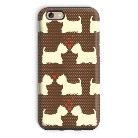 Image of Westies in Love Brown Phone Case Phone & Tablet Cases kite.ly iPhone 6 Tough Gloss