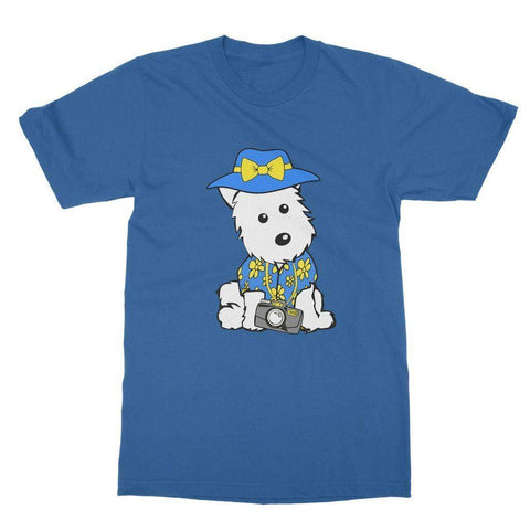 Image of Summer Holiday Westie Softstyle T-shirt Apparel kite.ly S Royal Blue