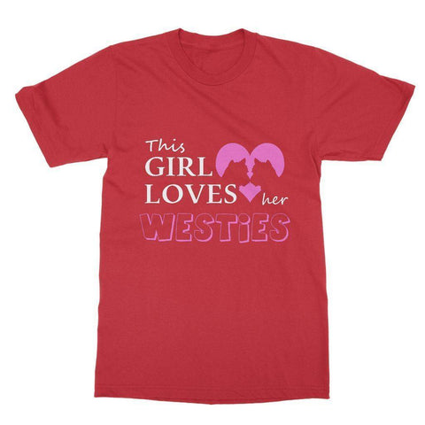 Image of This Girl Loves Her Westies Softstyle T-shirt