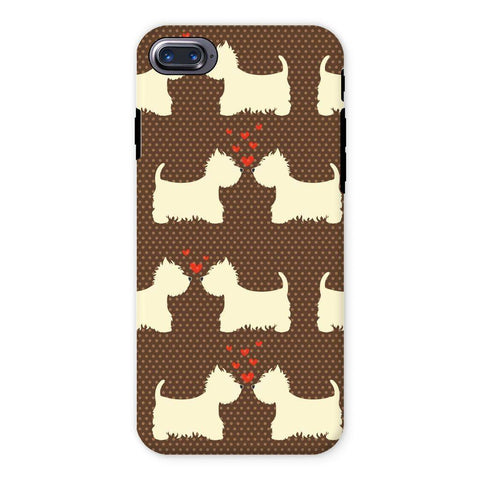 Image of Westies in Love Brown Phone Case Phone & Tablet Cases kite.ly iPhone 7 Tough Gloss