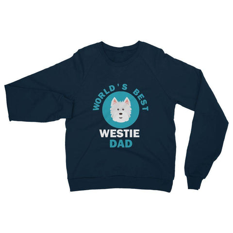 Image of World's Best Westie Dad Heavy Blend Crew Neck Sweatshirt Apparel kite.ly S Navy
