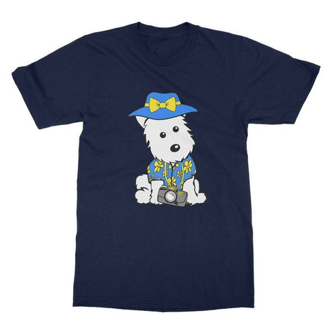 Image of Summer Holiday Westie Softstyle T-shirt Apparel kite.ly S Navy
