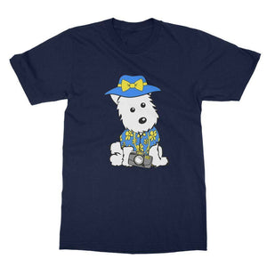 Summer Holiday Westie Softstyle T-shirt Apparel kite.ly S Navy