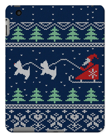 Image of Blue Santa and Westies Christmas Tablet Cases Phone & Tablet Cases kite.ly iPad 2/3/4 Gloss