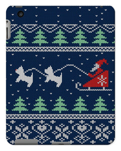 Blue Santa and Westies Christmas Tablet Cases Phone & Tablet Cases kite.ly iPad 2/3/4 Gloss