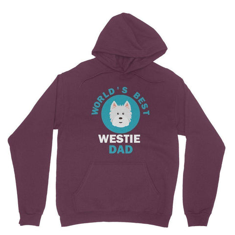 World's Best Westie Dad Hoodie Apparel kite.ly S Maroon