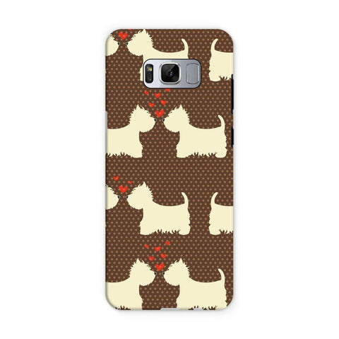 Image of Westies in Love Brown Phone Case Phone & Tablet Cases kite.ly Samsung S8 Tough Gloss