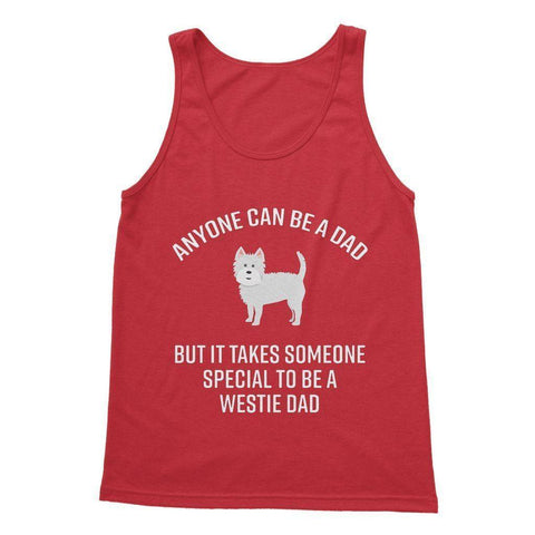 Special Westie Dad Softstyle Tank Top Apparel kite.ly S Red