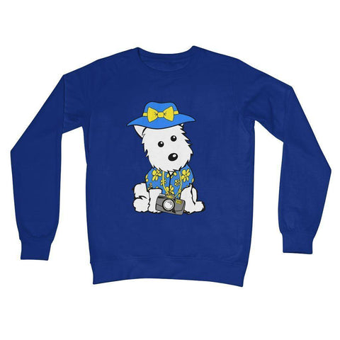 Summer Holiday Westie Crew Neck Sweatshirt Apparel kite.ly S Royal Blue