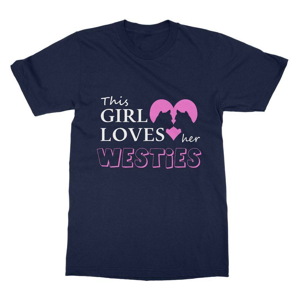 This Girl Loves Her Westies Softstyle T-shirt