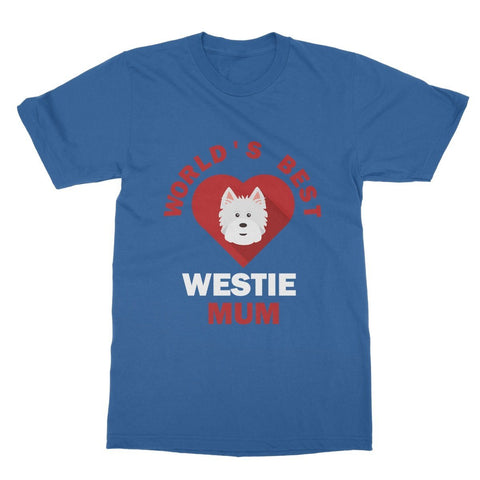 Image of World's Best Westie Mum Softstyle T-shirt Apparel kite.ly S Royal Blue