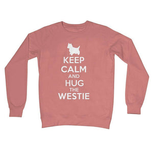 Keep Calm and Hug The Westie Crew Neck Sweatshirt Apparel kite.ly S Dusty Pink
