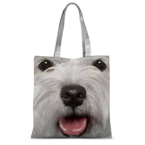"Westie Face Sublimation Tote Bag Accessories kite.ly 15""x16.5"""