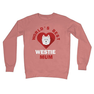 World's Best Westie Mum Crew Neck Sweatshirt Apparel kite.ly S Dusty Pink