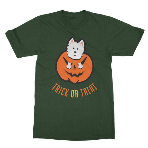 Trick or Treat Westie Softstyle T-shirt