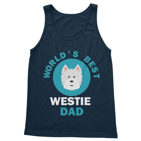 World's Best Westie Dad Softstyle Tank Top Apparel kite.ly S Navy