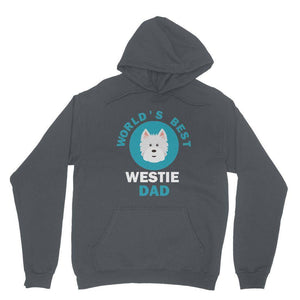 World's Best Westie Dad Hoodie Apparel kite.ly XS Charcoal