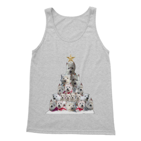 Image of Westie Christmas Tree Softstyle Tank Top