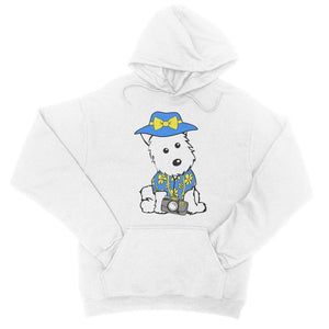 Summer Holiday Westie College Hoodie Apparel kite.ly S Arctic White