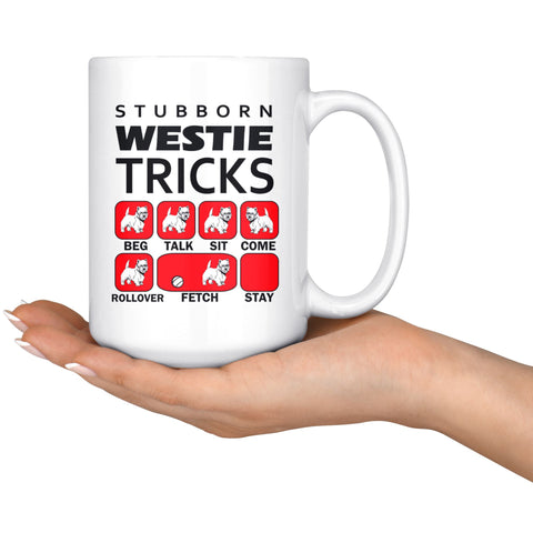 Image of Stubborn Westie Tricks Mug Red Drinkware teelaunch